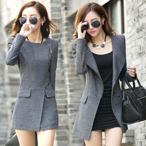 Mẫu áo khoác dạ nữ đẹp 2016