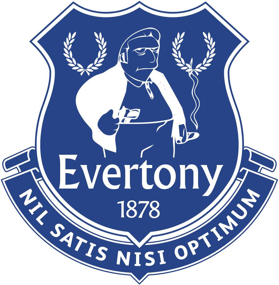 The Simpsons' version logo of Everton