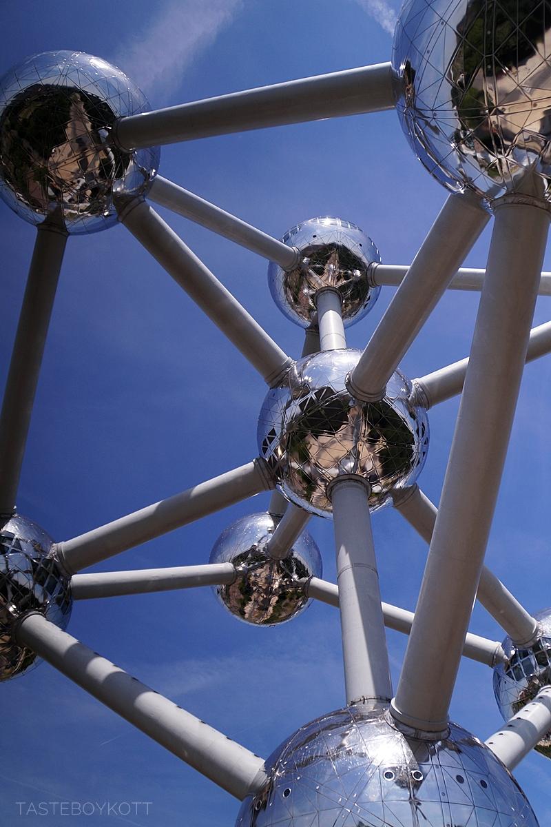 Atomium in Brussels in summer