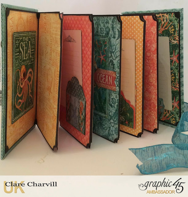 Voyage Beneath the Sea Concertina Album 2 Clare Charvill Graphic 45