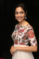 Ritu Varma smiling face Cream Anarkali dress at launch of OPPO New Selfie Camera F3 ~  Exclusive 031.JPG