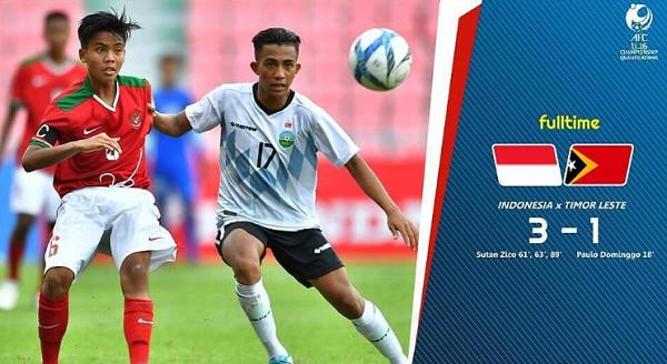 Kualifikasi Piala Asia U-16 2018: Indonesia (3-1) Timor Leste