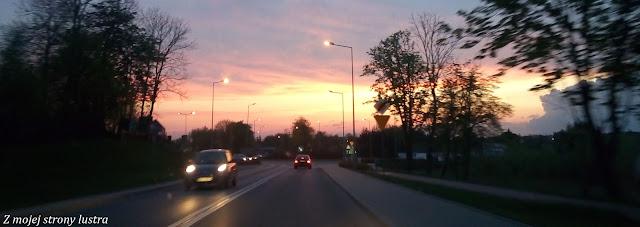 zachód słońca w Ełku