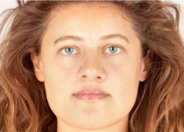 Facial reconstruction made of Bronze Age woman 'Ava'
