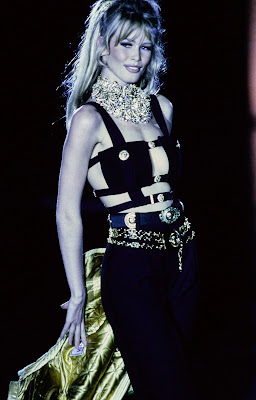 Versace 1992 Miss SM bondage claudia schiffer