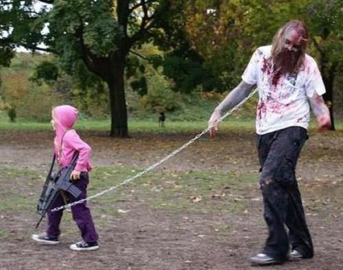 Cosplay para Halloween Zombi Walking Dead