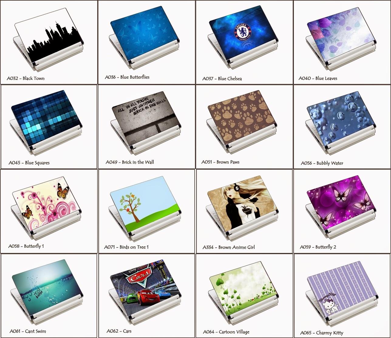 Via Ristiani Grosir Wallsticker Readystock Netbook Skin 10 Inch Garskin Laptop 14