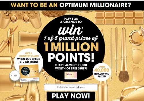 Shoppers Drug Mart Optimum Millionaire Contest