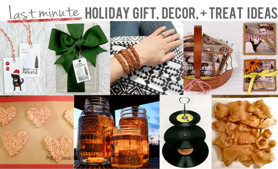 Last Minute Holiday Gift, Decor and Treat Ideas // Bubby & Bean