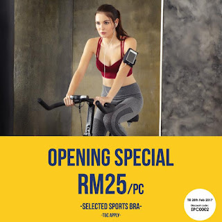 Pierre Cardin Lingerie Malaysia Online Store Discount Code Sports Bra Set