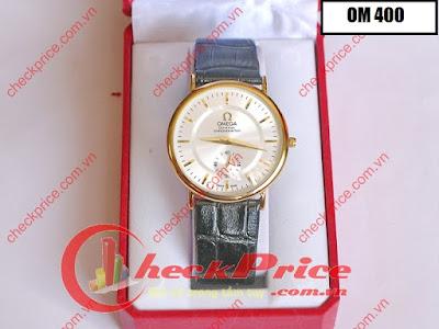 đồng hồ nữ dây da omega 400