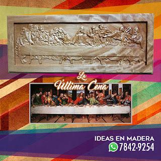 Cuadros Decorativos en Madera de la Santa Cena Última Cena