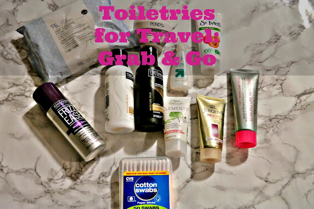 Toiletries to grab and go