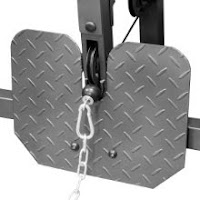 Foot plate for seated row exercises on Marcy Diamond Elite Smith Cage MD9010G