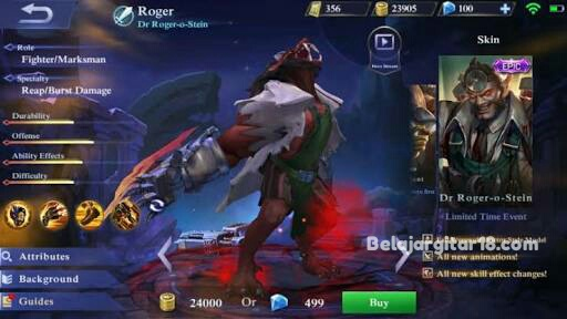 Hero Roger Mobile legends