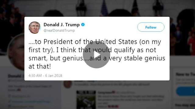 Donald Trump tweets he is 'a very stable genius'