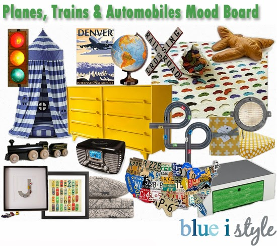 Decorating With Style Mood Board Planes Trains And Automobiles Blue I Style Creating An Organized Amp Pretty Happy Home