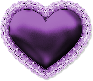 Free Printable Hearts with Lace Border Clipart.