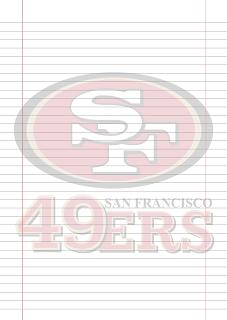 Folha Papel Pautado San Francisco 49ers PDF para imprimir na folha A4