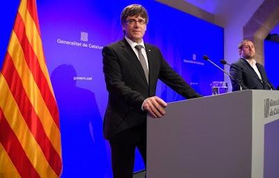 Catalunya: Puigdemont asegura que no renunciarán al referéndum «aunque lo prohíba el TC»