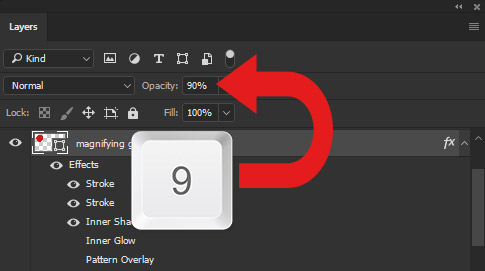 Keyboard Shortcuts for Opacity and Fill Opacity in Photoshop
