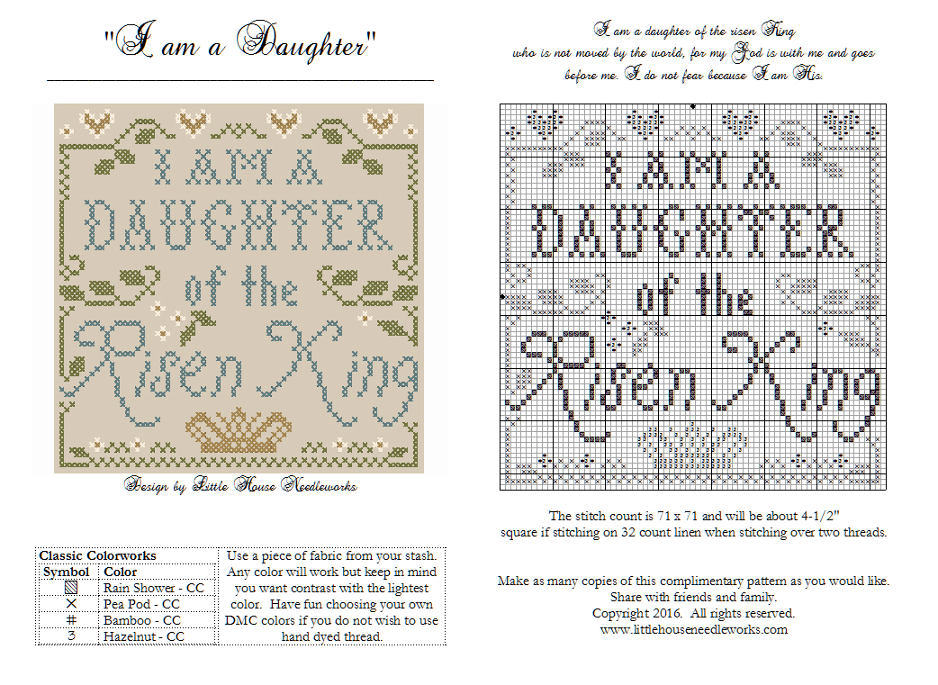 Little house needleworks im offering it as a blessing to anyone who wishes to receive it biocorpaavc Choice Image