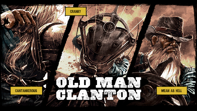 One of the comic character introduction scenes from Call of Juarez: Gunslinger