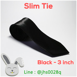 slim tie 3inch black gelvy dasi slim indonesia