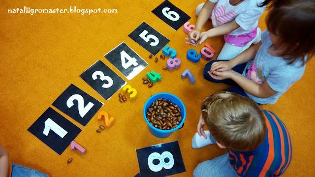 предметов с количеством рисунки цифры