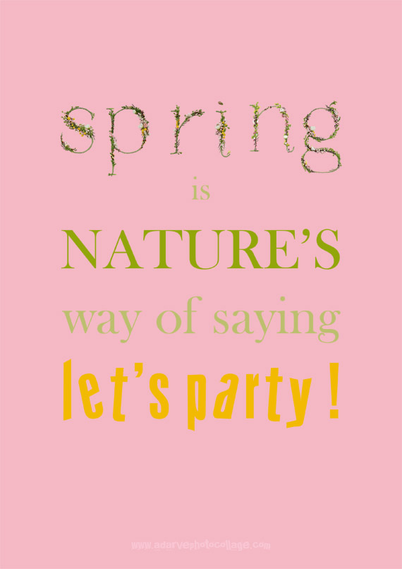 typography posters, quotes about spring