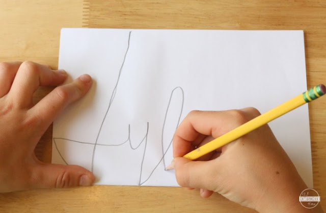 cursive art project for kids