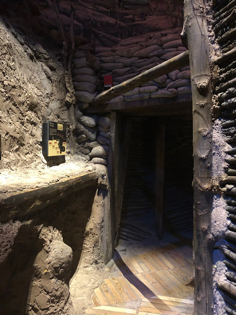 Entering the trenches in WWI in the First Division Museum of Cantigny Park