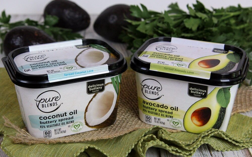 free pure blends avocado or coconut oil spread at meijers free