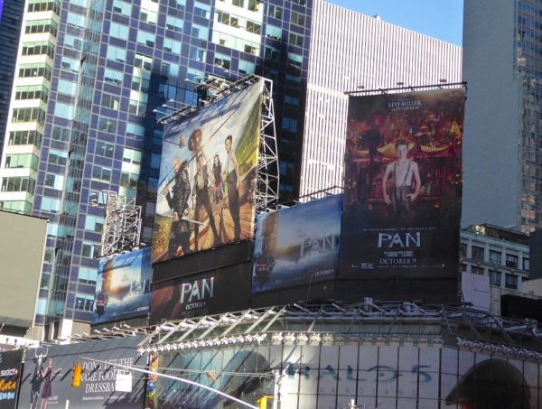 Pan movie billboards Times Square NYC