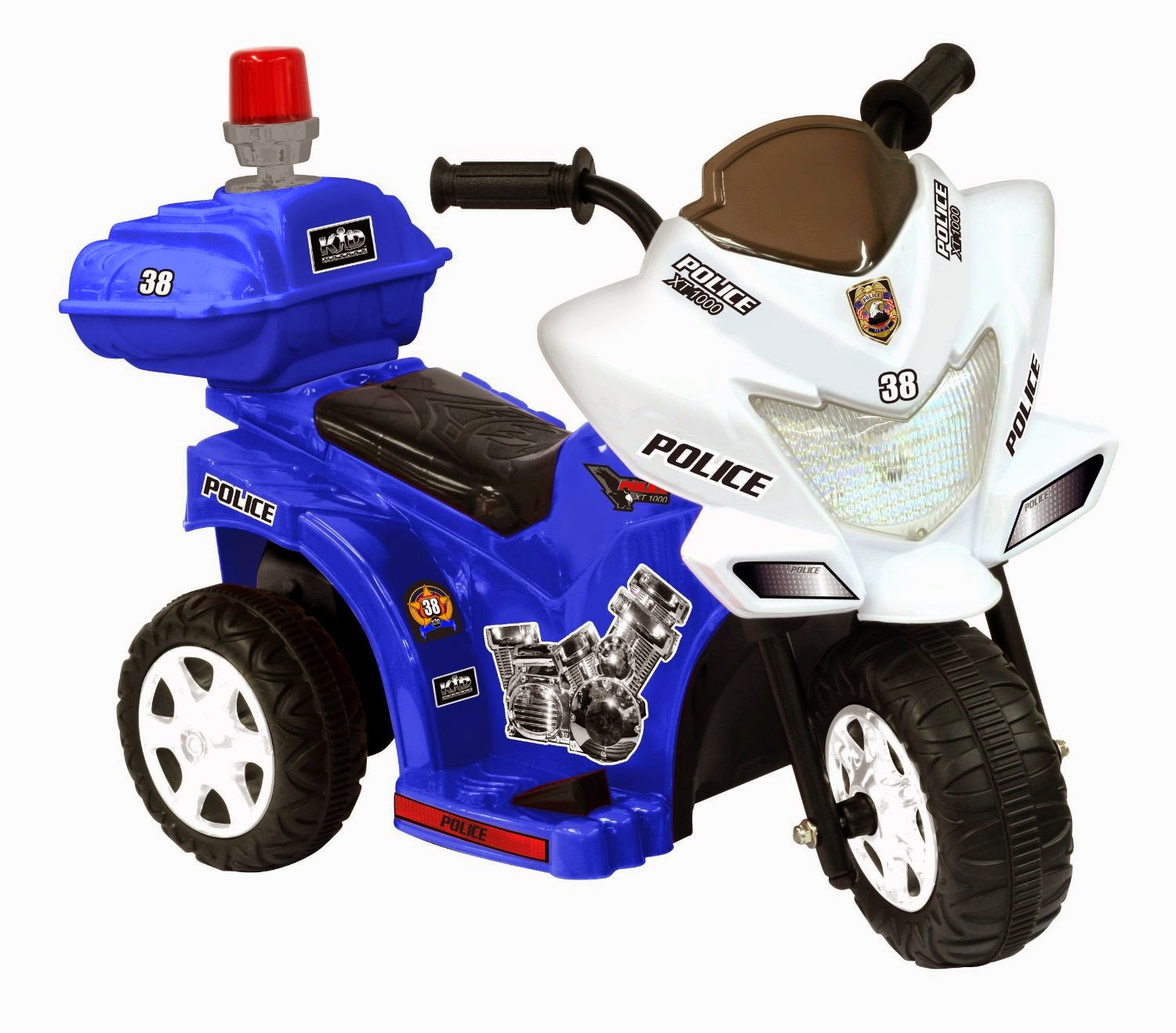 Lil Patrol 6v Blue And White Toy Game Fisher Price Harley Davidson Ride On Tough Trike