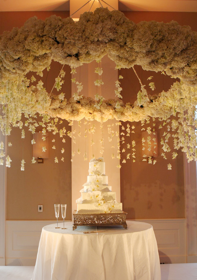 Suspended wedding centerpieces floral chandeliers belle the magazine event designer via cecilia fox out of the woods audiocablefo