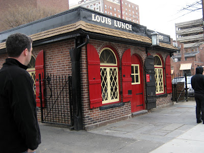 Hold the pickles, hold the lettuce: Eating at Louis' Lunch