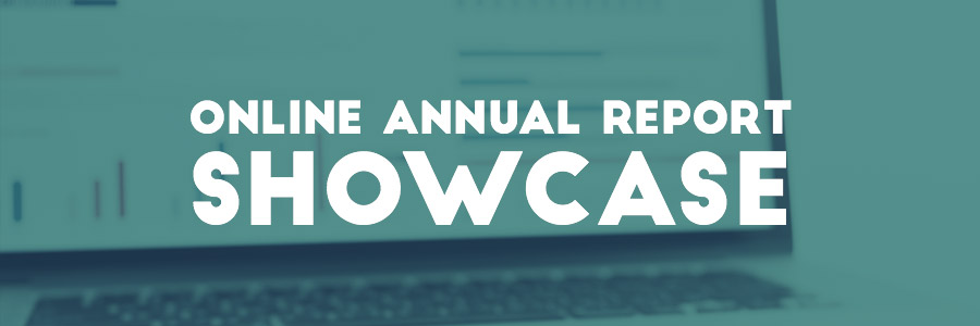 Online annual report showcase