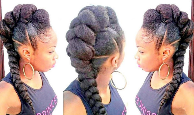 French Braid Hairstyles With Weave