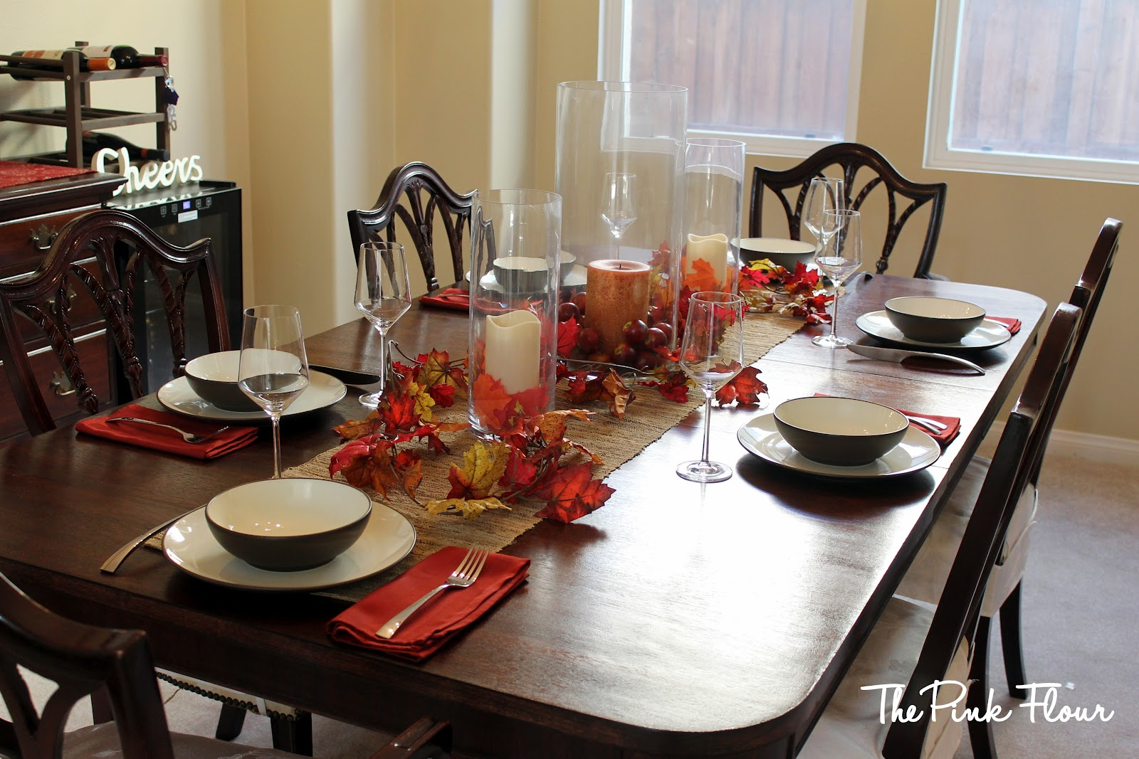 Centerpiece Ideas For Dining Room Table: Dining Table: Decorating Dining Table Fall