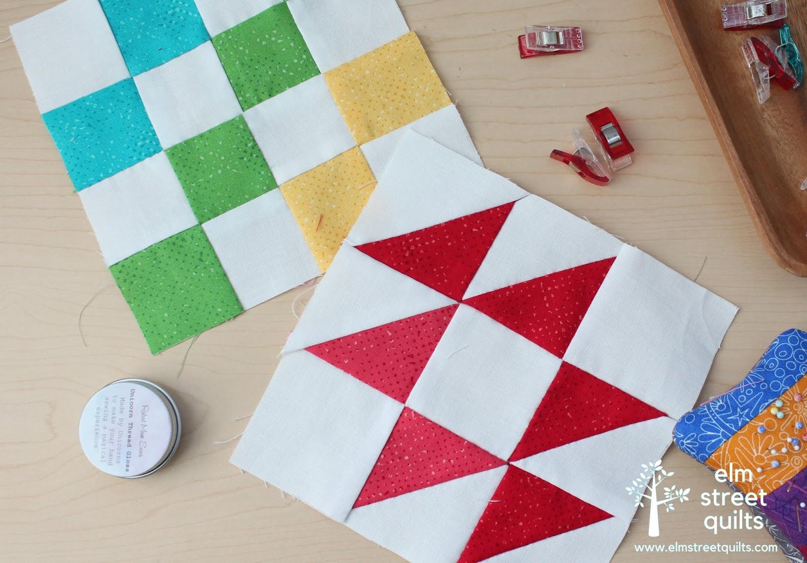 Hand Pieced QAL - Spinning Seams tutorial | Elm Street Quilts