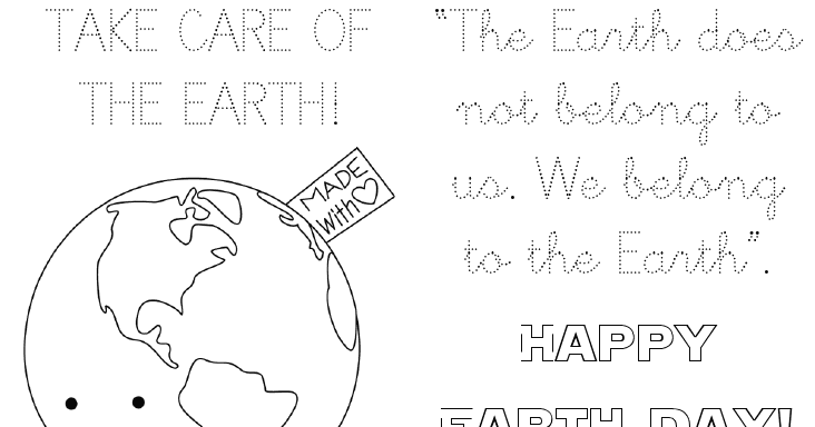 My dog ate my homework!: Happy Earth Day!