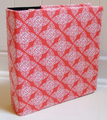 3-ring binder fabric slipcover