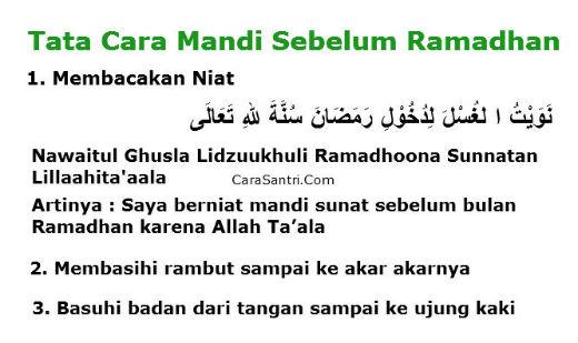 niat mandi keramas sebelum puasa ramadhan