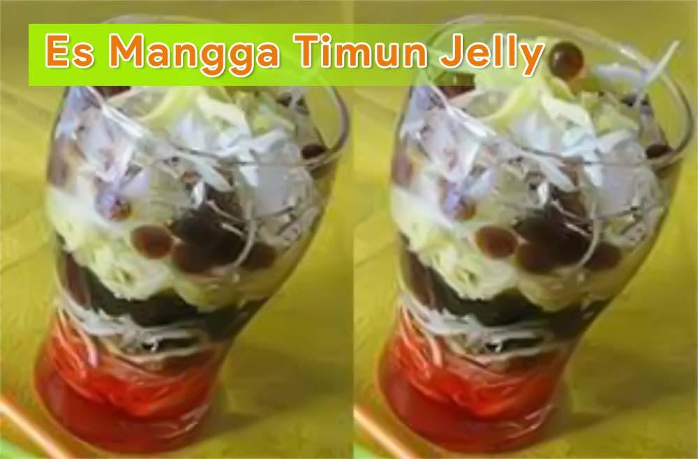 Membuat Es Campur Mangga Timun Jelly Yang Segar Untuk Berbuka Puasa