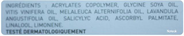 composition  Patchs peaux tendance acnéique de Joliderm