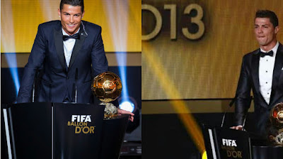 Photo of Cristiano Ronaldo at 2013 Ballon d'Or