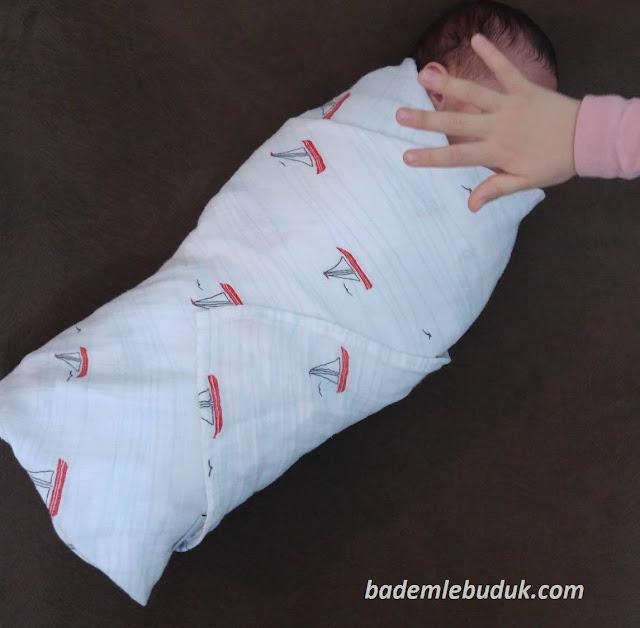 bebek kundaklama, müslin bezler, kundak yapımı, blogger anne