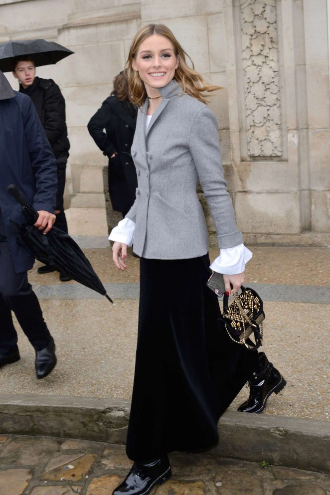 The Olivia Palermo Lookbook Olivia Palermo At Elie Saab Fashion Show In Paris