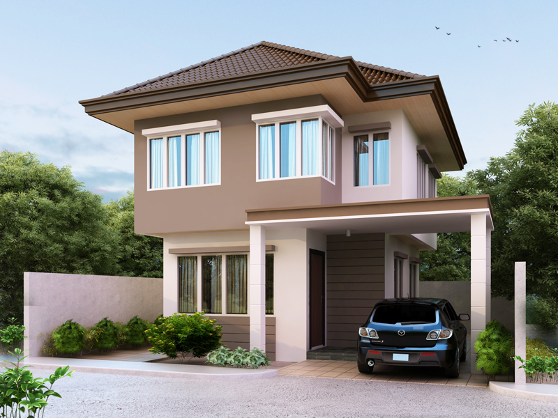 Collection 50 beautiful narrow house design for a 2 story for Pretty two story houses